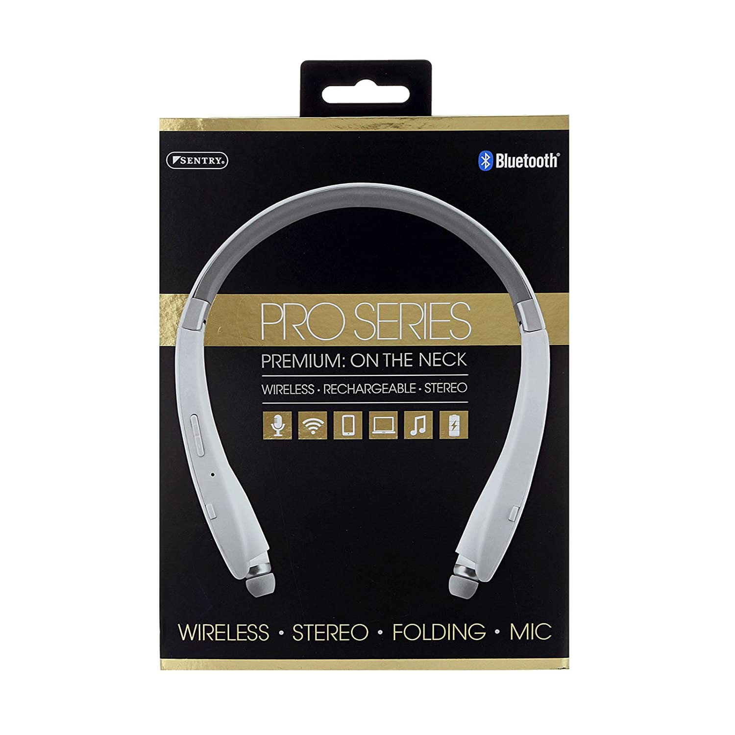 82728f3089a Amazon.com: Sentry Pro Series Bluetooth, Rechargeable Wireless On The Neck  Ear Buds, BT951: Home Audio & Theater