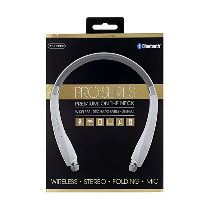 Amazon.com: Sentry Pro Series Bluetooth, Rechargeable Wireless On The Neck Ear Buds, BT951: Home Audio & Theater