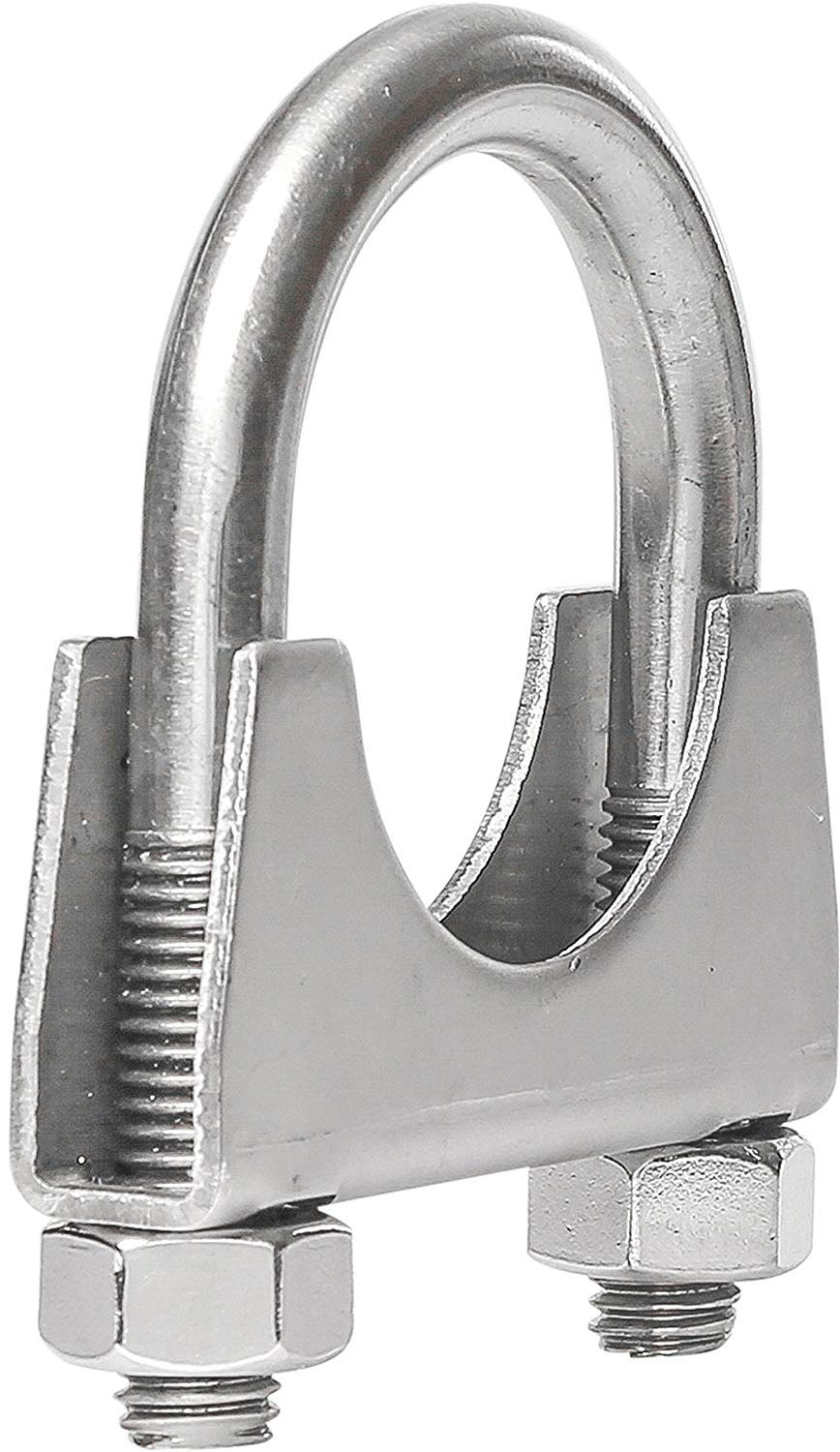 TOTALFLOW 2.25 TF-225SS 409 Stainless Steel Single Bolt AccuSeal Exhaust Muffler Clamp Band-2.25 Inch