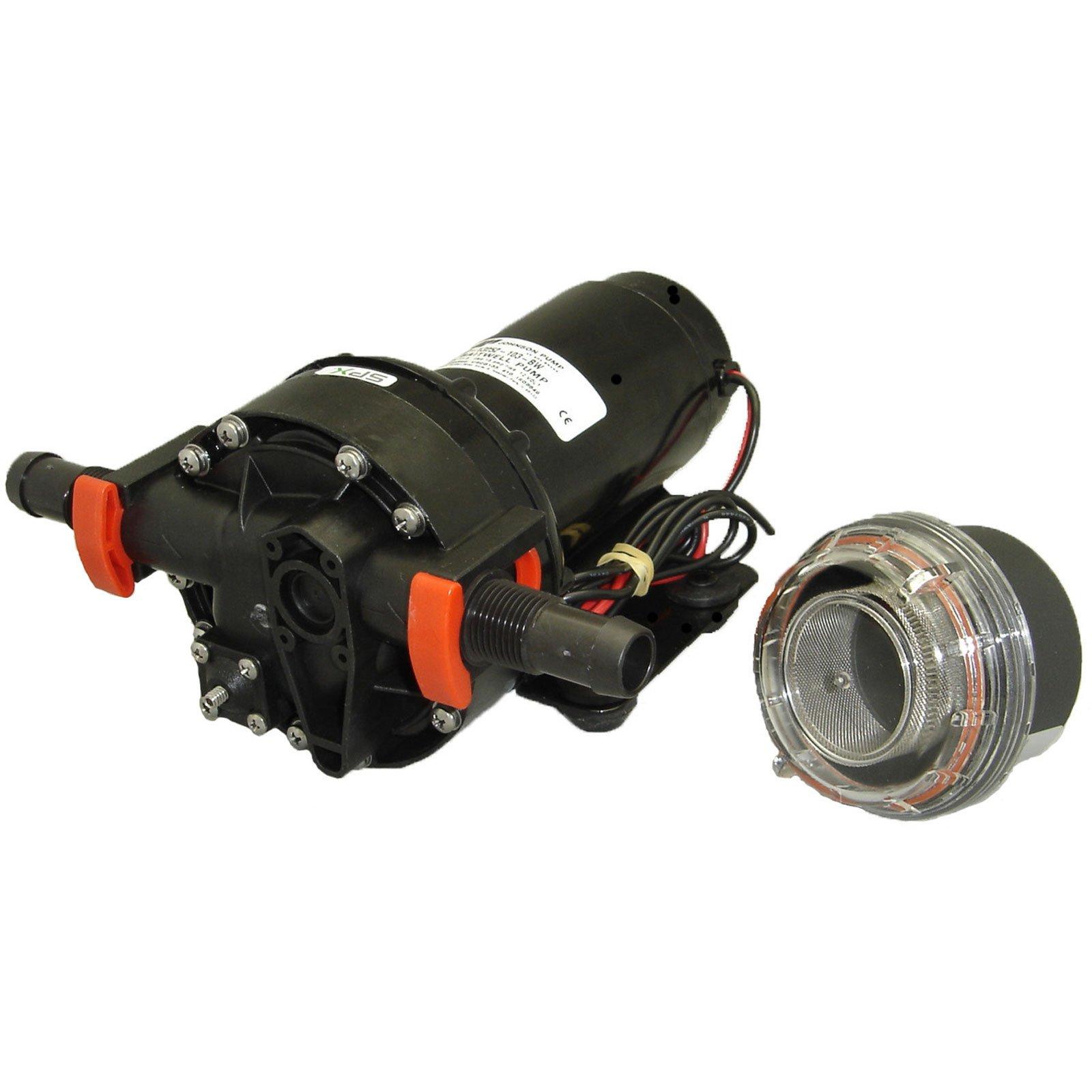 Johnson Pumps 10-13252-103-BW 4.0 GPM Baitwell Pump, 12V by Johnson Pumps