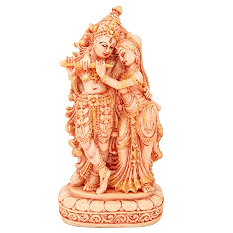 amazon com the hue cottage radha krishna statue indian hindu