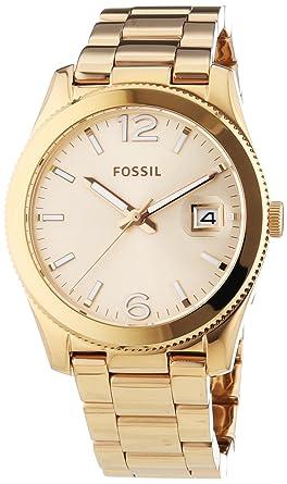 7a601dfeeddf8 Fossil - ES3587 - Montre Femme - Quartz Analogique - Bracelet Acier  Inoxydable Or et Rose