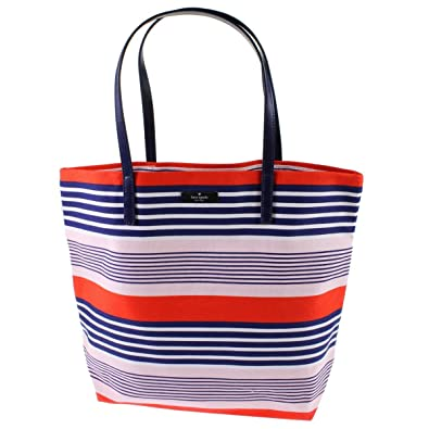 7b245e100 Amazon.com: Kate Spade Women's Striped Canvas Tote, Large, Red/Blue/Pink:  Shoes