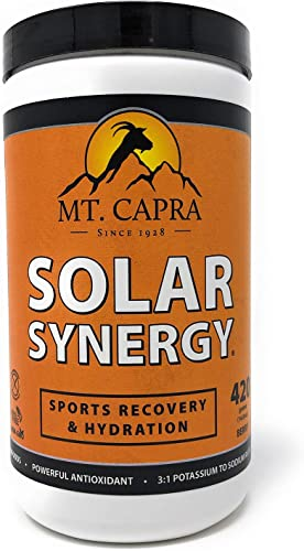MT. CAPRA SINCE 1928 Solar Synergy Electrolyte Powder, Sports Recovery Hydration Powder, Boost Athletic Performance, Combat Dehydration with 9 Superfruits – 420 Grams