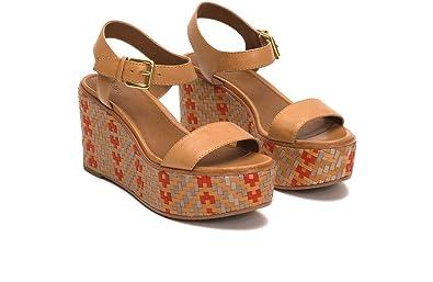 a49723d37ba Amazon.com: FRYE Women's Heather 2 Piece Woven Wedge Sandal: Shoes