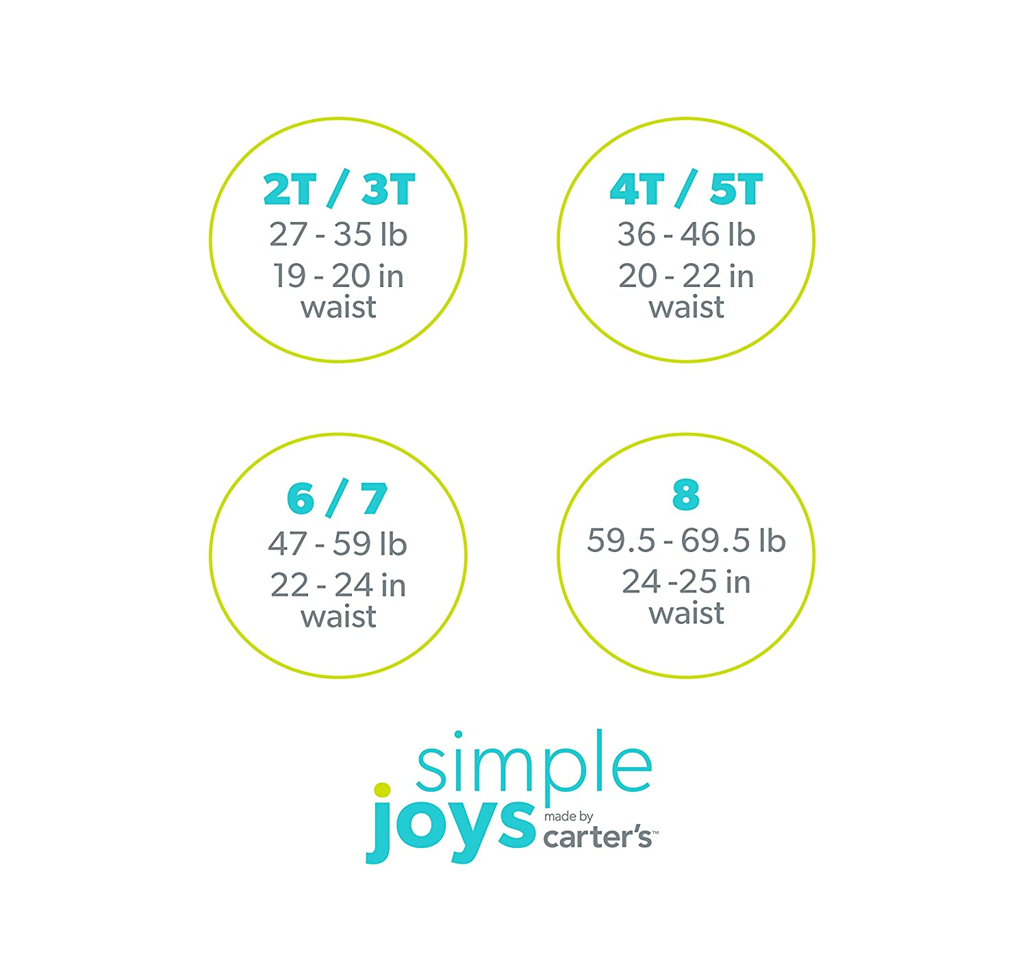 Simple Joys by Carters Little Kid and Toddler Girls 8-Pack Underwear Simple Joys by Carter/'s