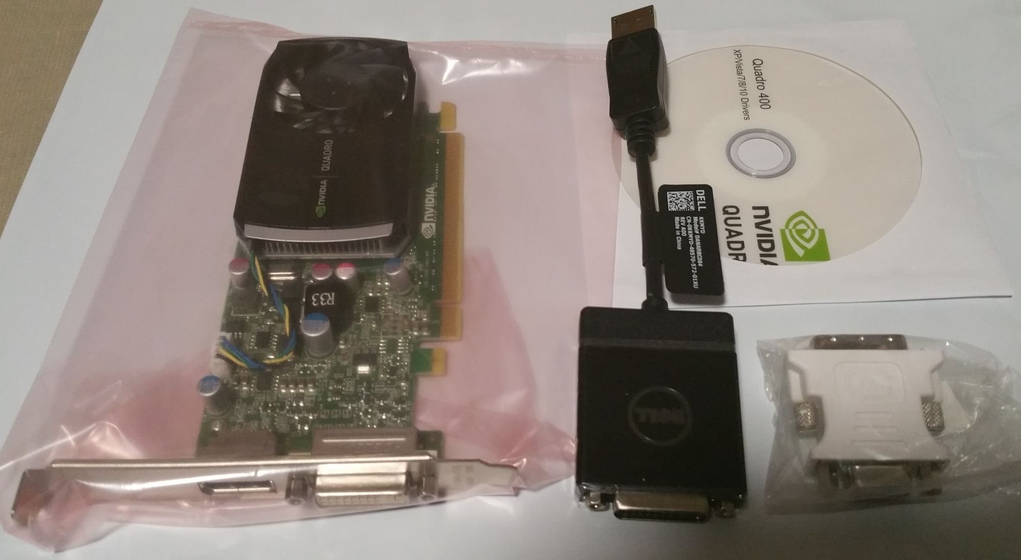NVIDIA Quadro 400 512 MB Professional Video Graphics Card, Replacement For Lenovo 0A36535, PNY VC7400-PB, HP LD542AA LD542AT, Dell HWGX0, DDR3 PCI Express Gen 2 x16 DVI-I DL and DisplayPort Open GL, DirectX, and CUDA, Drivers NOT Included by NVIDIA (Image #1)