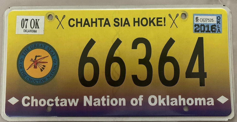15,2 x 30,5 cm MNUT Nummernschild Authentic Indian Choctaw Nation Americaine Nummernschild