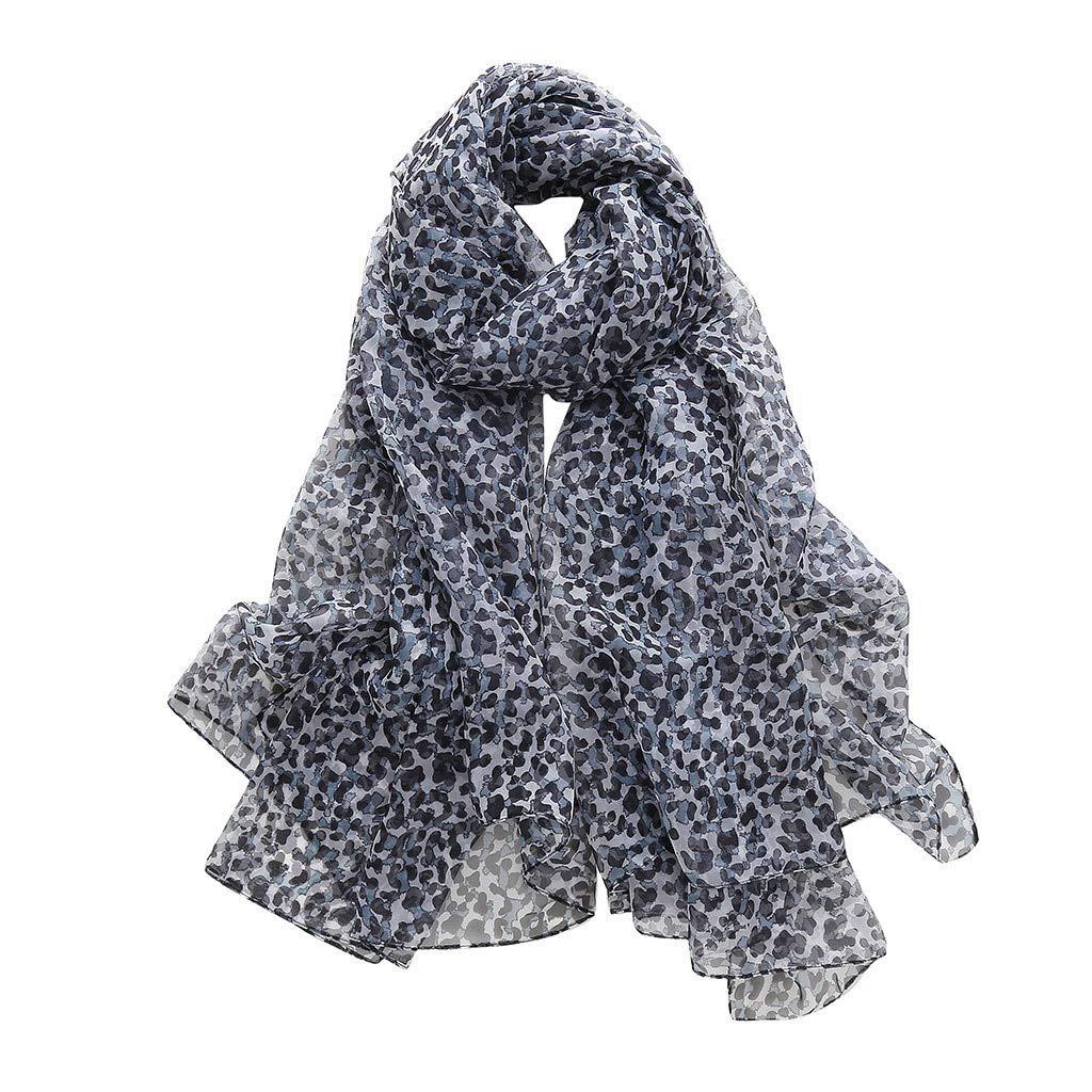 Mnyycxen Women Fashion Leopard Pattern Animal Print Shawl Scarf Wrap, Soft lightweight Shawl for Any Season