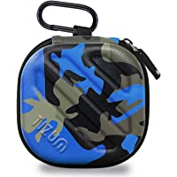 TIZUM Earphone Carrying Case - Multi Purpose Pocket Storage Travel Organizer for Earphone, Pen Drives, Memory Card, Cable (Camouflage Blue)