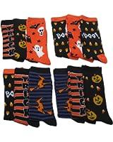 Halloween Socks, 5 Different Designs, Halloween Gift, Women Teen Size.12 Pair,