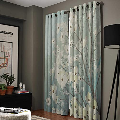 Blackout Curtain Window Drapes Thermal Insulated Curtains 2 Panel