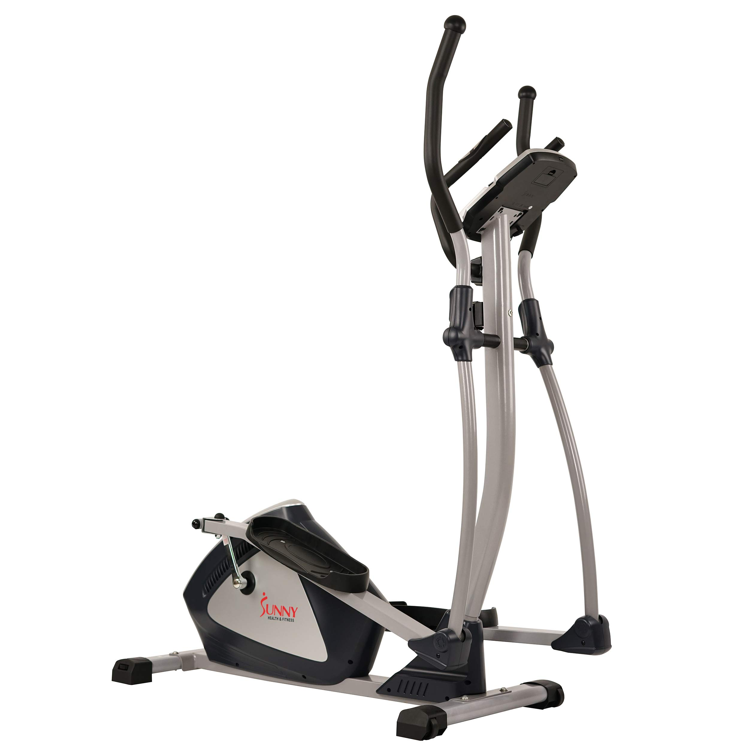 Sunny Health & Fitness Magnetic Elliptical Trainer Elliptical Machine w/  LCD Monitor and Heart Rate Monitoring - Endurance Zone - SF-E3804 by Sunny Health & Fitness (Image #9)