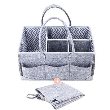Amazon.com: Organizador de pañales para bebé, bolsa de ...