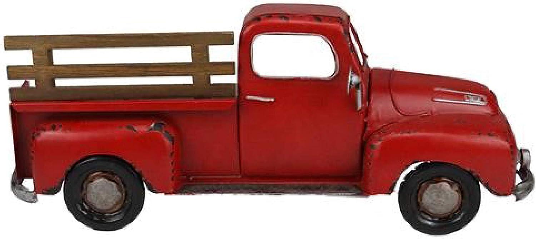 Metal Vintage Half Truck with Fence - 15.75