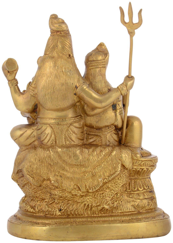 Kapasi Handicrafts Brass Lord Shiv Parivar Idol Big Statues (5.75'' x 3.75'' x 7.5'' Inch) by Kapasi Handicrafts Emporium Since 1973 (Image #4)