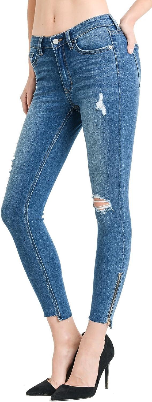 Amazon Com Just Usa Jeans Pantalones De Mezclilla Ajustados Para Mujer Skinny 8 Clothing