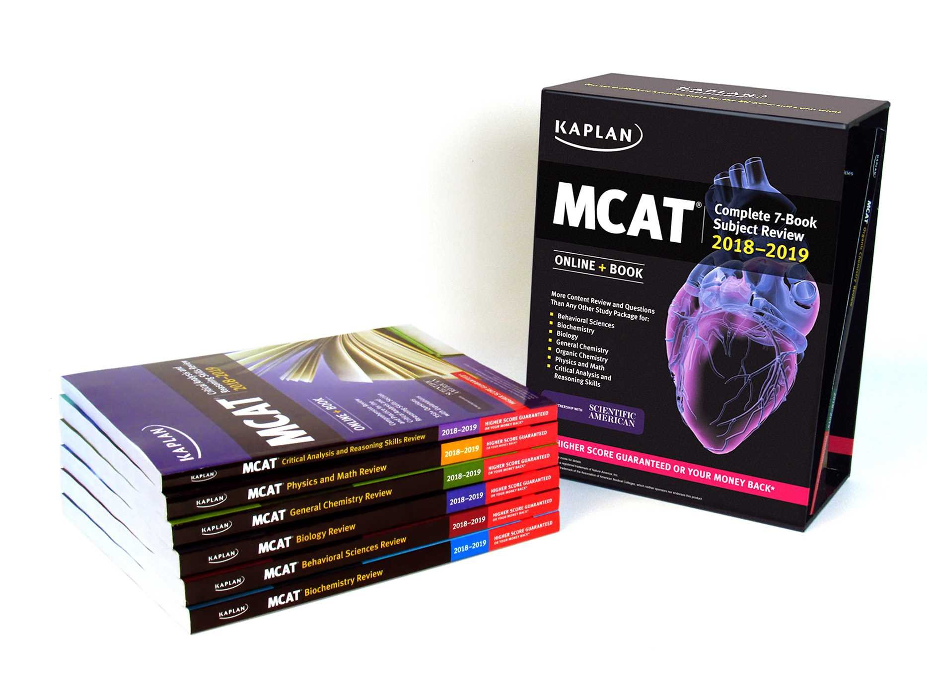 MCAT Complete 7-Book Subject Review 2018-2019: Online + Book: Kaplan Test  Prep: 9781506223957: Books - Amazon.ca
