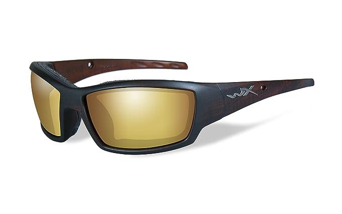 6166e7bb9e Wiley X Men s Tide Polarized Venice Gold Matte Hickory Protective  Sunglasses - Cctid04