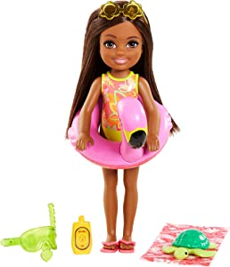 Barbie and Chelsea The Lost Birthday Playset with Chelsea Doll (Brunette, 6-in), Jungle Pet, Floatie and Accessories, Gift for 3 to 7 Year Olds