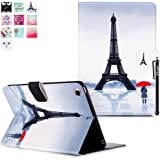 iPad Mini 3 Housse, iPad Mini 3 Coque, Deenor Children and Tower Pattern PU Cuir Coque Stand Flip Etui Housse de Protection pour Apple iPad Mini 1/2/3 Generation. (Children and Tower)