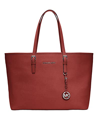 c2ecc1d1bf Amazon.com  Michael Kors Womens Jet Set Travel Medium Multifunction Tote  Scarlet Handbag  Shoes