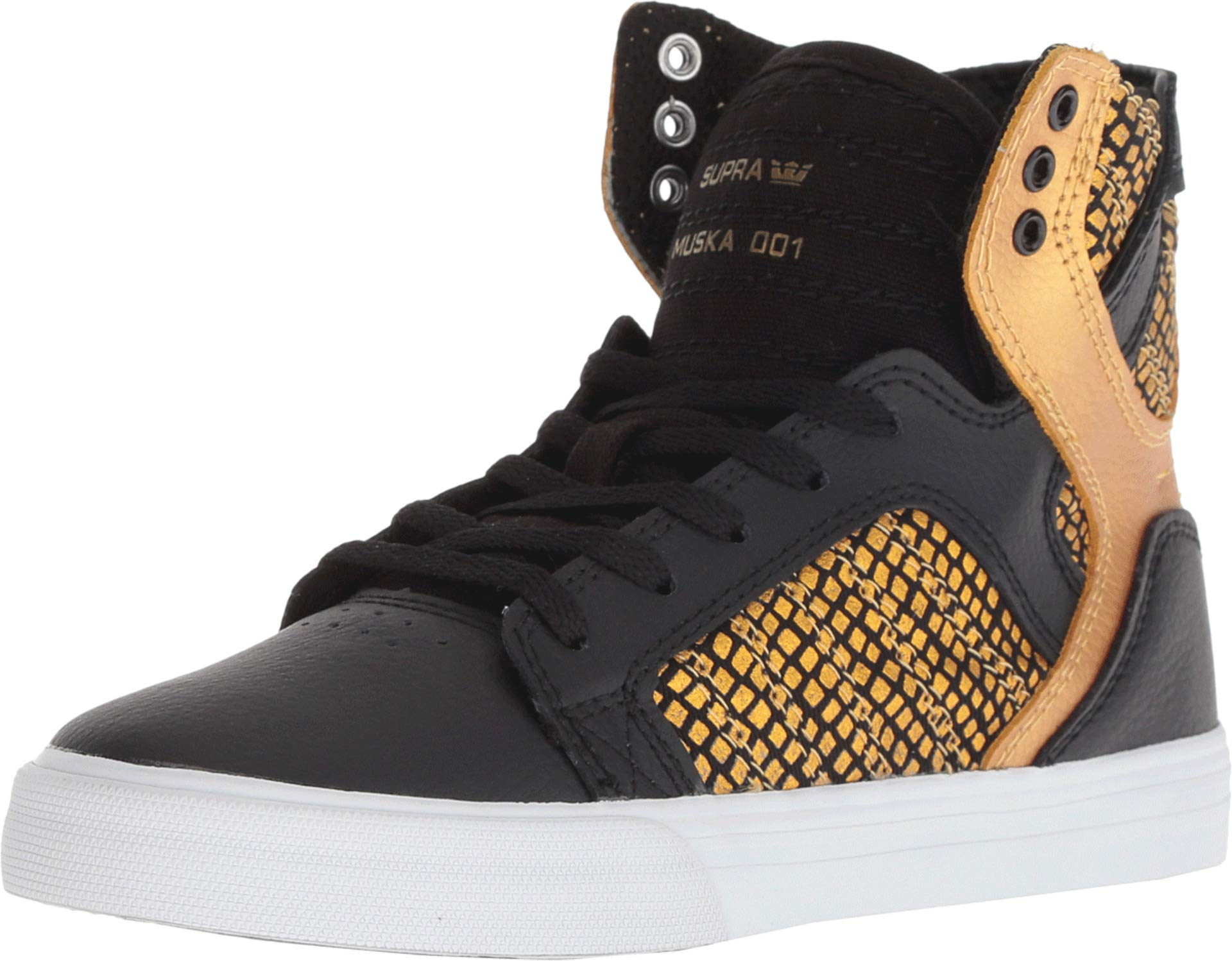 28eee8eadde Galleon - Supra Kids Boy's Skytop (Little Kid/Big Kid) Black/Gold/Black/ White 12 M US Little Kid