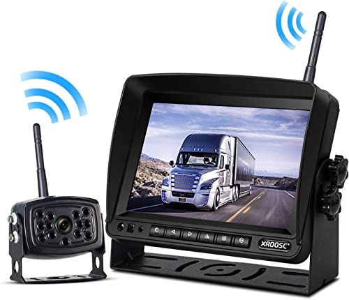 Wireless Backup Camera with Monitor for Truck Rearview Reversing Backing Camera With Stable Signal IP69 Waterproof 7 Wireless Monitor System for RV Travel Trailer Pickup Motorhome Camper