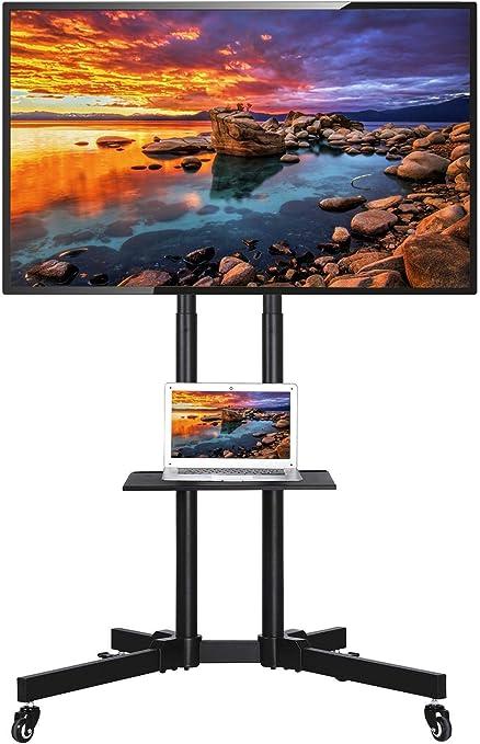 RFIVER Support TV sur Pied avec Support Cantilever pour TVs et Ecrans LCD LED de 32 /à 75 Pouces TF2003