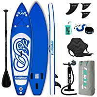 FunWater SUP Inflatable Stand Up Paddle Board 10'x31''x6'' Ultra-Light Inflatable Paddleboard with ISUP Accessories,Fins…