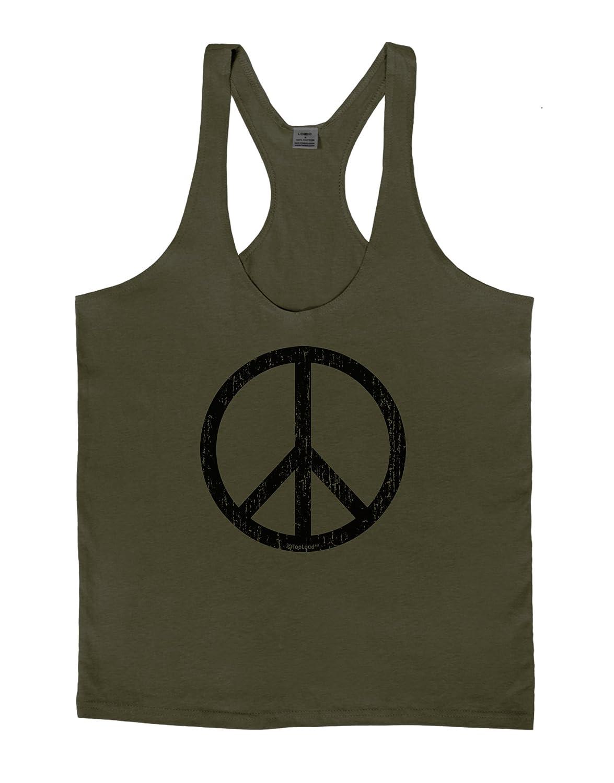 LOBBO TooLoud Peace Sign Symbol Distressed Mens String Tank Top