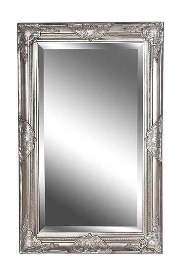 Spiegel Wandspiegel Antik Silber Barock Claire 80 X 50 Cm Amazon De