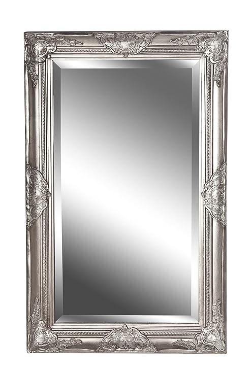 Bevorzugt Spiegel Wandspiegel antik silber Barock CLAIRE 80 x 50 cm: Amazon TB82