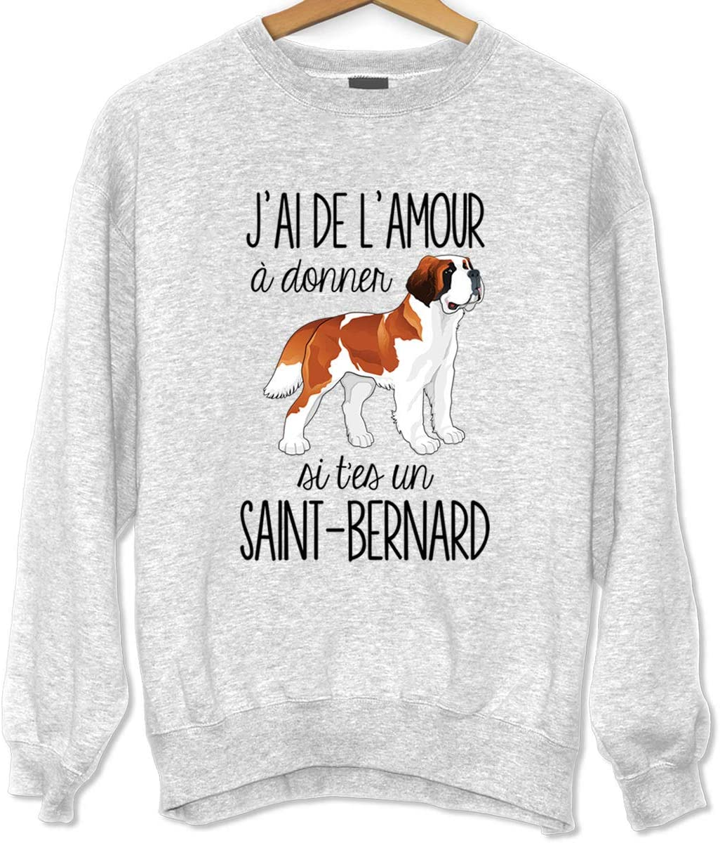 La Boite A Design Saint Bernard De L Amour A Donner Sweat Unisexe Humour Fun Drole Et Mignon Collection Animaux Et Races De Chiens Collection Animaux 3xl Amazon Fr Sports Et