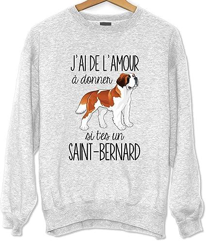 La Boite A Design Saint Bernard De L Amour A Donner Sweat Unisexe Humour Fun Drole Et Mignon Collection Animaux Et Races De Chiens Collection Animaux 3xl Amazon Fr Sports Et
