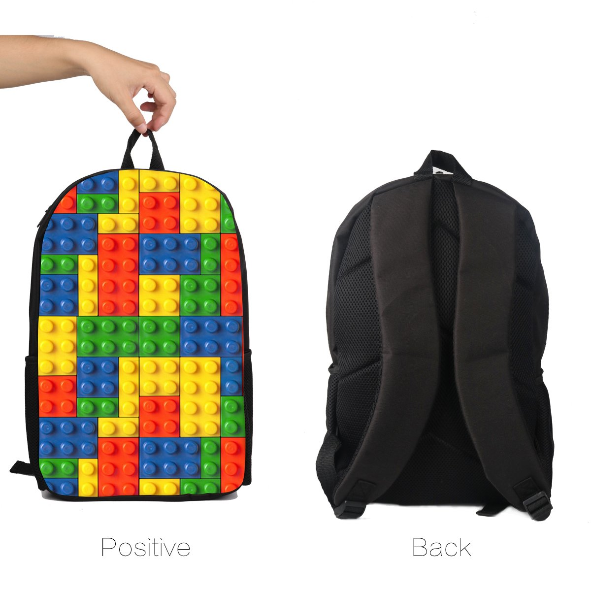 Casual Backpack Set 2Pcs Casual Daypack Cartoon School Bags Lunch Insulated Bag for Boys Girls Children Teens