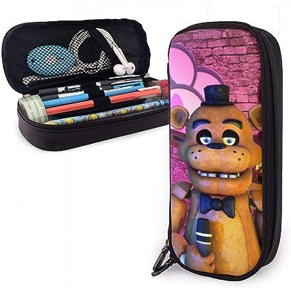 Five Nights at Freddys Sing Estuche de piel sintética para lápices, estuche de maquillaje para estudiantes, estuche para lápices de oficina, estuche de maquillaje, bolsa de cosméticos con cremallera: Amazon.es: Oficina y