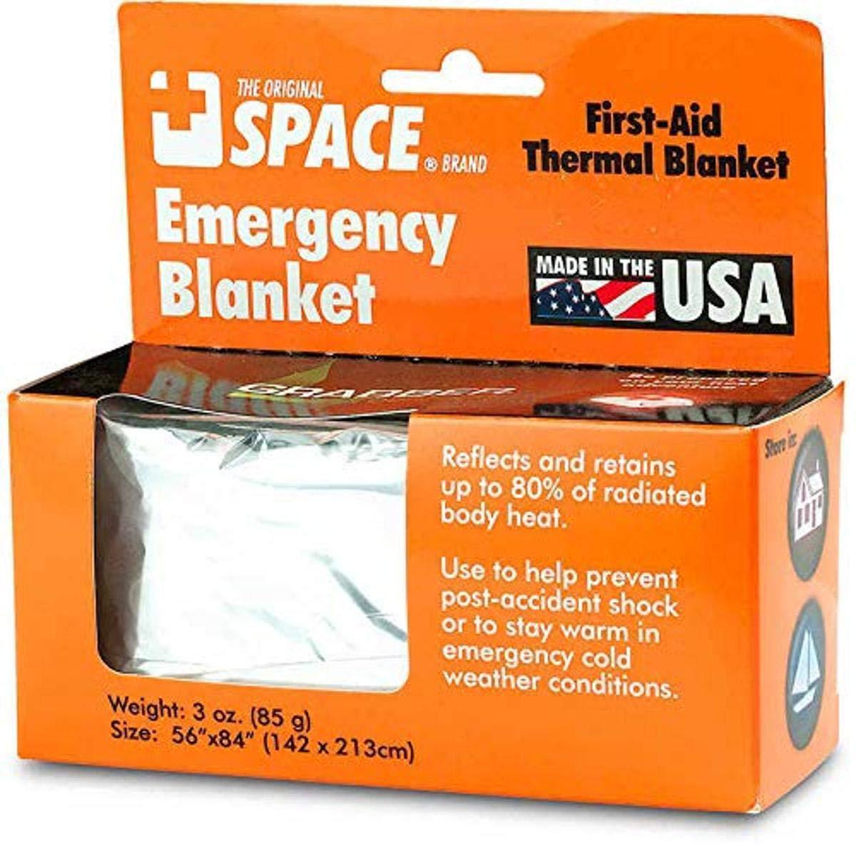 Aluminum Mylar Rescue Blanket 2 PACK 52/'/' W x 84/'/' L
