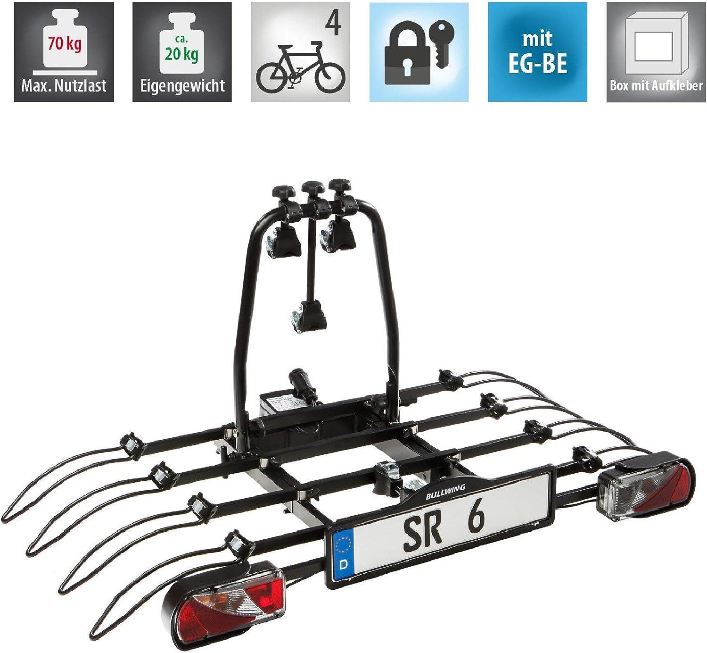 Bullwing SR8 Fahrradträger für 4 Fahrräder Heckträger Anhängerkupplungsträger