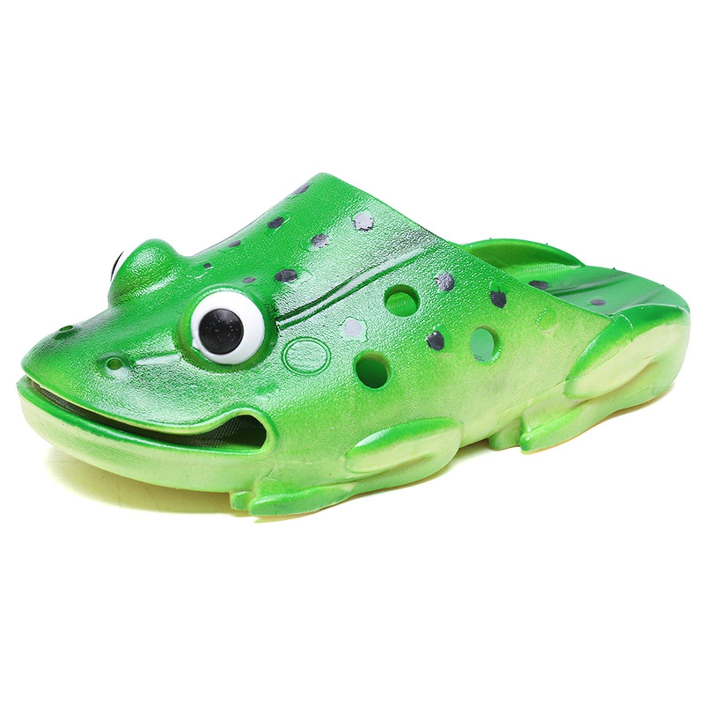 OUYAJI Kids Slippers Girls Boys Summer Beach Shoes Gardening Clogs Lightweight Soft Green-36