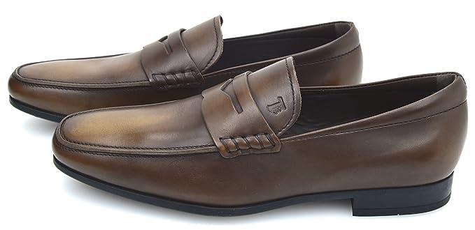 Loafer Mokassins Schuhe Dunkelbraun Herren Klassische Tod's Leder Y6by7gIfvm