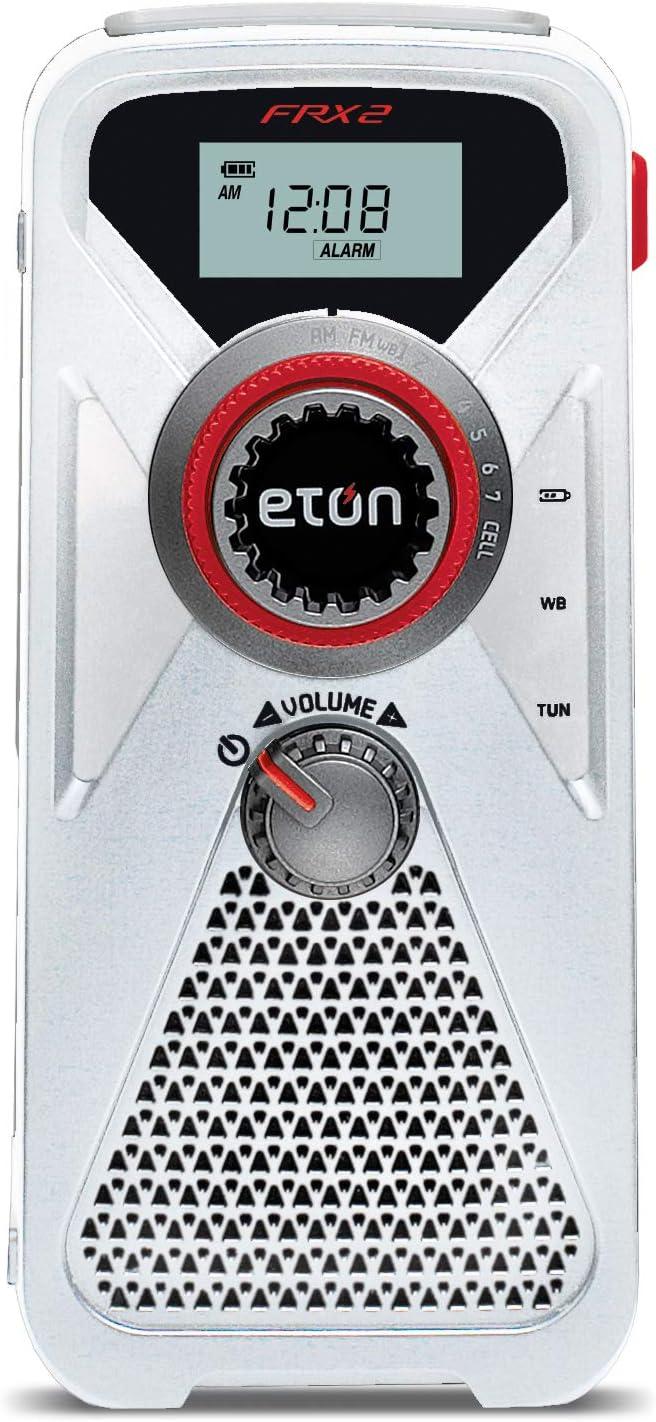 Eton Hand Turbine AM/FM/NOAA Weather Radio with USB Smartphone Charger and LED Flashlight