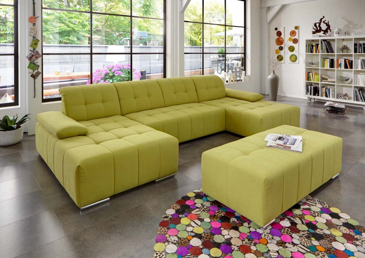 Dreams4home Polstergarnitur Retro I U Form Sofa Wohnlandschaft