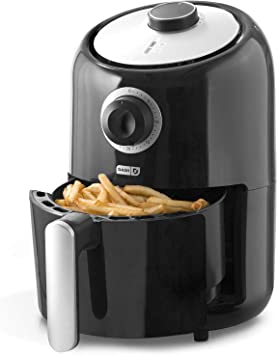 Dash Compact Air Fryer 1.2 L Electric Air Fryer Oven Cooker with Temperature Control, Non Stick Fry Basket, Recipe Guide + Auto Shut off Feature - ...