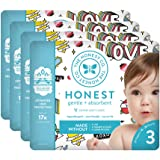 The Honest Company Baby Diapers with Trueabsorb Technology, Forever Yours, Size 3, 108 Count