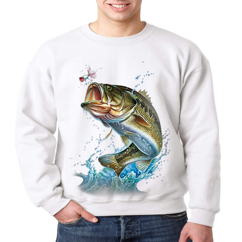 Fishing Crewneck Sweatshirt Action Bass