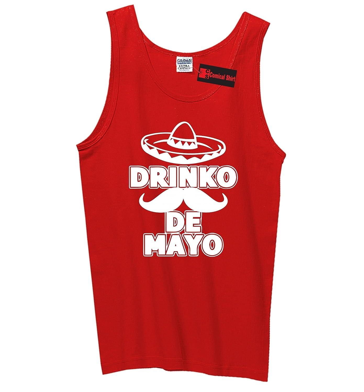 Comical Shirt Mens Cinco Drinko De Mayo Mexican Fiesta Party Tee Tank Top