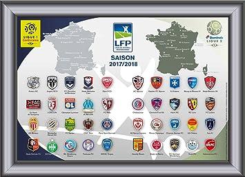 LFP - Collection de pins emblèmes des équipes de la Conforama Ligue 1 & Dominos Ligue