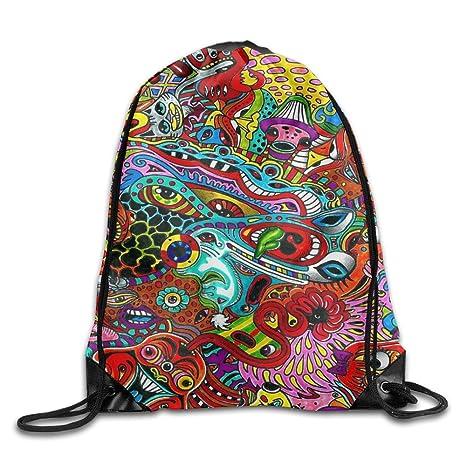 Kathleen abstracto impresión Cool cara sonriente emoticono suave Casual mochila escolar libro bolsas mochila cordón mochilas