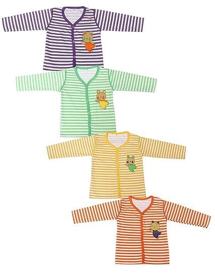 68bad12c8 Babeezworld Baby Cotton Front Open Full Sleeves Vest Tshirt Jhabla ...